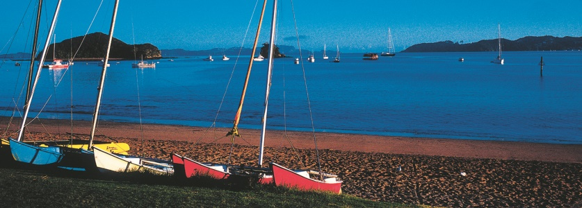 Sail Boats on Paihia Beach